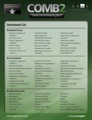 Instrument List - MakeMusic