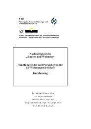 """Nachhaltigkeit des """"Bauens und Wohnens"""" - IZT"""