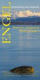 Modernes Antiquariat Sonderausgaben - Buchhandlung ENGEL ...