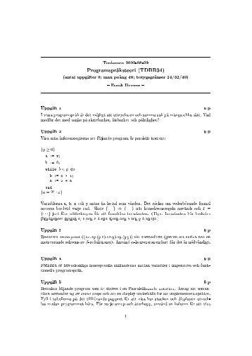 Tentamen 2002-08-29 Programspr @aksteori (TDBB34) (antal ...
