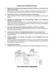 7 Tipps für die schriftliche Prüfung