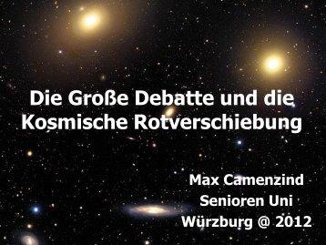 Die Große Debatte und kosmische Rotverschiebung