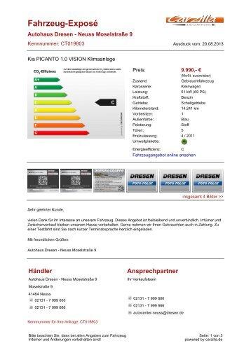 Kia Picanto - Gebrauchtwagen - carzilla.de