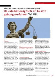 Mediation im Bundesjustizministerium angelangt - Bundesverband ...