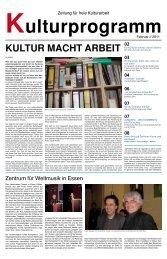 KULTUR MACHT ARBEIT - Kulturprogramm