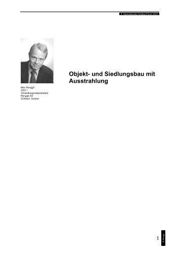 Objekt- und Siedlungsbau mit Ausstrahlung - Forum-HolzBau
