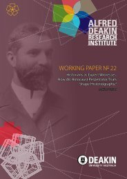 Working Paper No. 22 - Deakin University