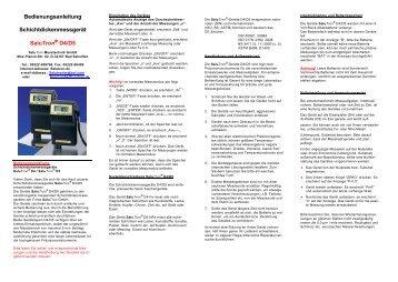 Bedienungsanleitung Schichtdickenmessgerät SaluTron® D4/D5