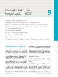 Kapitel 9. Kronisk obstruktiv lungesygdom (KOL) - Statens Institut for ...