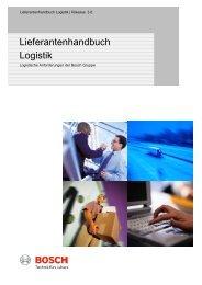 Lieferantenhandbuch Logistik - Einkauf und Logistik
