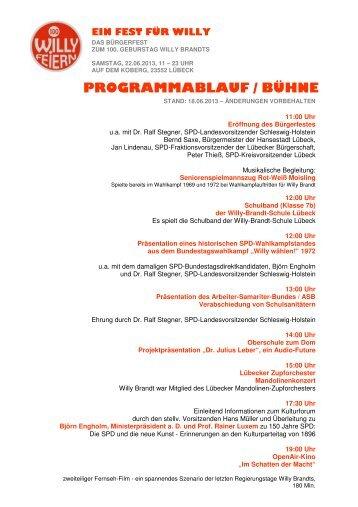 Tagesprogramm herunterladen (hier klicken) - Willy Brandt