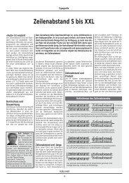 Zeilenabstand S bis XXL - Publisher