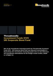 Threadneedle Investment Funds ICVC UK Corporate Bond Fund ...