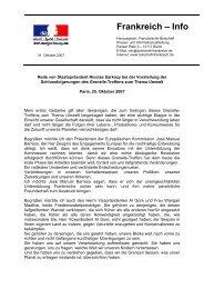 """ein """"umfassendes nationales Programm"""" - Französische Botschaft"""