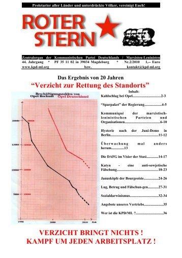 [PDF] Ausgabe 2010/2 - Kommunistische Partei Deutschlands ...
