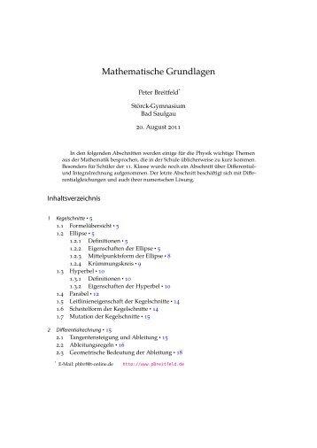 Mathematische Grundlagen - SFZ-WEB-Seite Mathematik-Server