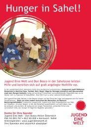 Hunger in Sahel! - Jugend Eine Welt