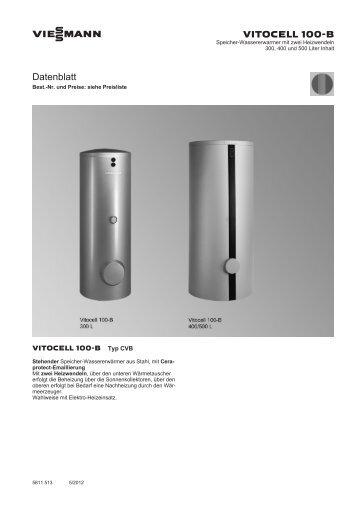 vitocell 100 b datenblatt. Black Bedroom Furniture Sets. Home Design Ideas