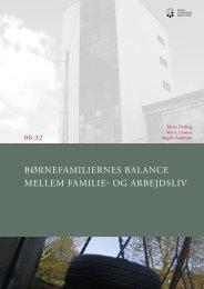 børnefamiliernes balance mellem familie- og arbejdsliv - SFI