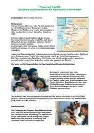 Schaffung von Perspektiven für Jugendliche in Esmeraldas