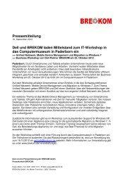 Dell und BREKOM laden Mittelstand zu IT-Workshop in das ...