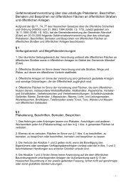 Gefahrenabwehrverordnung über das Plakatieren, Beschriften ...
