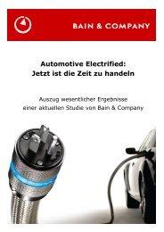Automotive Electrified: Jetzt ist die Zeit zu handeln - Bain & Company