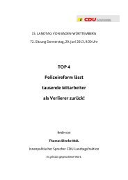 2013-06-20 Blenke zu erste Lesung Gesetzentwurf ... - CDU-Fraktion