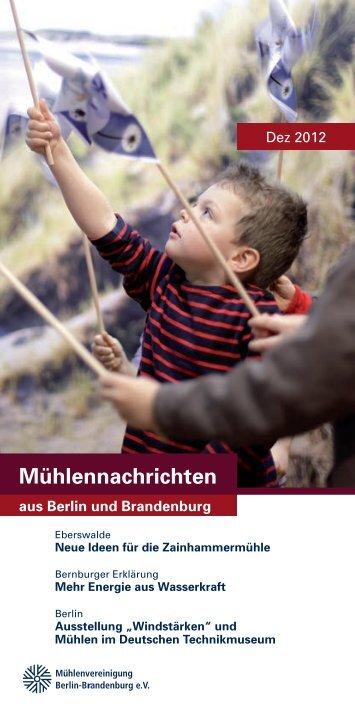 Mühlennachrichten Dezember 2012 - Mühlenvereinigung Berlin ...