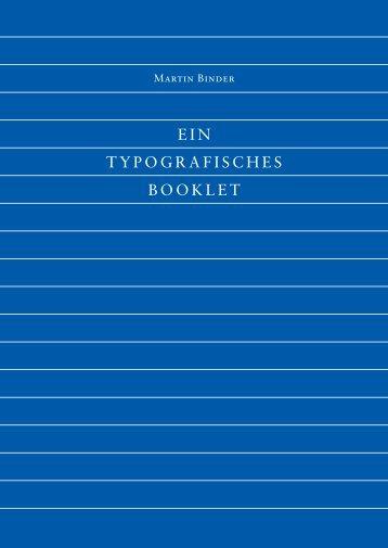 Typo Booklet