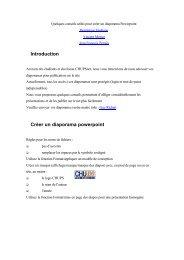 Conseils pour la publication des fichiers PPT (format PDF)