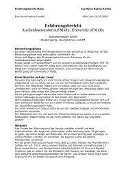 Erfahrungsbericht Auslandssemester auf Malta, University of Malta