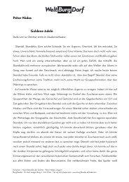 Péter Nádas Goldene Adele - Burgtheater