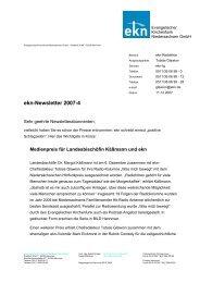 Evangelischer Kirchenfunk Niedersachsen GmbH – Postfach 38 49 –