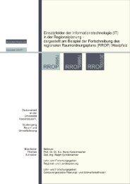 in der Regionalplanung - KLUEDO - Universität Kaiserslautern