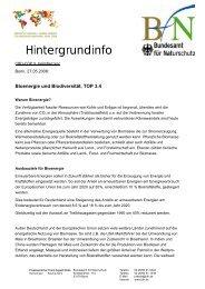 Bioenergie und Biodiversität - Bundesamt für Naturschutz