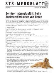 Seriöser Internetauftritt beim Anbieten/Verkaufen von Tieren