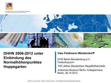 Datumspunkt des DHHN 2012? - DVW
