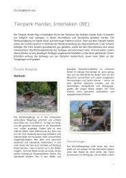 STS-Zoobericht 2012; Tierpark Harder, Interlaken - Schweizer ...