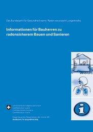 Informationen für Bauherren zu radonsicherem Bauen und Sanieren