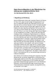 Open-Source-Migration in der Öffentlichen Ver- waltung aus ...