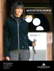 MOUNTAIN HORSE Katalog Herbst/Winter 2009 - Horses.ch