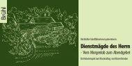 Flyer: Historienspiel - Dienstmägde des Herrn - Stadt Brühl