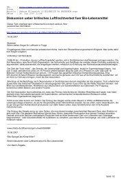 Diskussion ueber britisches Luftfrachtverbot fuer Bio ... - CL-Netz