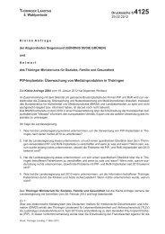 Die Kleine Anfrage und ihre Antwort als PDF - Thüringen