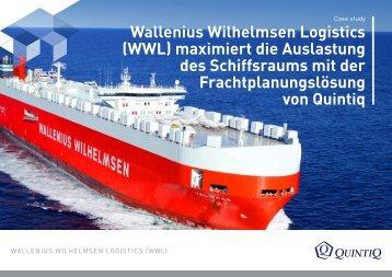 Wallenius Wilhelmsen Logistics (WWL) maximiert die ... - Quintiq