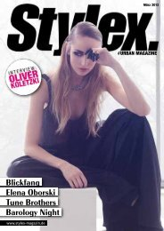 Blickfang Elena Oborski Tune Brothers Barology ... - Stylex Magazin