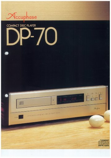 COMPACT DISC PLAYER - Accuphase