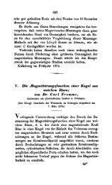 V. Die fiagnetiairungsfunction einer Kugel aus weichein Eisen; von ...