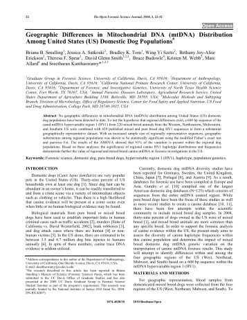 (US) Domestic Dog Populations - Bentham Science